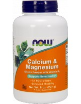 NOW FOODS Calcium & Magnesium Citrate & D3 227g