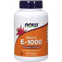 NOW FOODS Witamina E-1000 100 kaps.