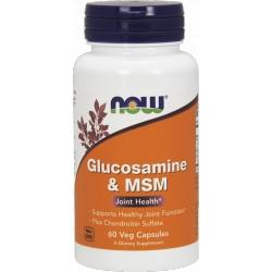 NOW FOODS Glukozamina & MSM 60 vcaps.