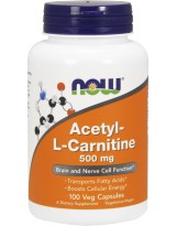 NOW FOODS Acetyl L-Carnitine 500mg 100 vcaps.