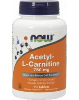 NOW FOODS Acetyl L-Carnitine 750mg 90 tabl.