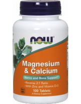 NOW FOODS Magnesium & Calcium + Zinc+D3 250 tabl.