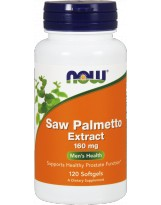NOW FOODS Saw Palmetto Extract 160 mg 120 gels.