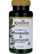 SWANSON Boswellia and Curcumin 60 kaps.