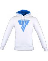 TREC WEAR Hoodie White/Blue 028