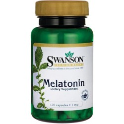 SWANSON Melatonina 1mg 120kaps
