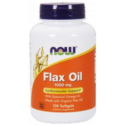 NOW FOODS Flax Oil 1000mg 100 gels.