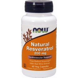 NOW FOODS Resveratrol 200mg 60 kaps.