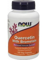 NOW FOODS Quercetin With Bromelain 120 vcaps.