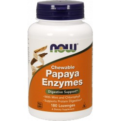 NOW FOODS Papaya Enzymes Chewable 180 lozenges