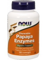 NOW FOODS Papaya Enzymes Chewable 180 tab.do ssania