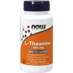 NOW FOODS L-Theanine 100mg 90 vcaps.