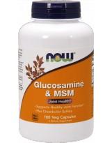 NOW FOODS Glukozamina & MSM 180 vcaps.