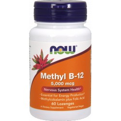 NOW FOODS B-12 Methyl 5000 mcg 60 lozenges