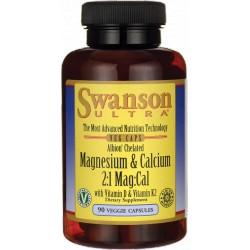 SWANSON Chelat Wapnia i Magnezu +D3&K2 90 caps.