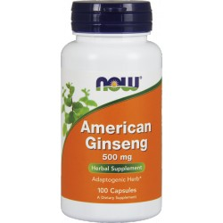 NOW FOODS American Ginseng 500mg 100 vcaps.