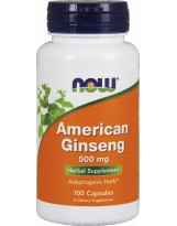 NOW FOODS American Ginseng 500mg 100 kaps.