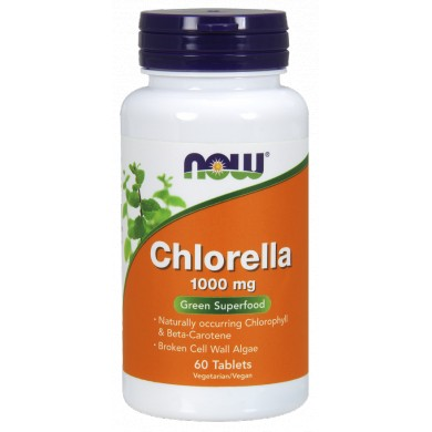NOW FOODS Chlorella 1000mg 60tabs.