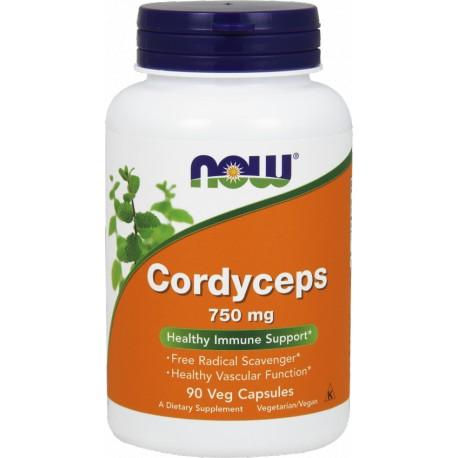 NOW FOODS Cordyceps 750mg 90 kaps.