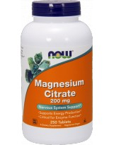 NOW FOODS Cytrynian Magnezu 200mg 250 tabl.