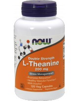 NOW FOODS L-Theanine 200mg  Inositol 120 vcaps.