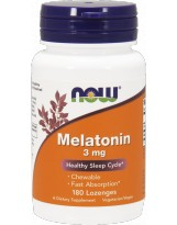 NOW FOODS Melatonina 3mg 180 lozenges