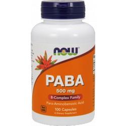 NOW FOODS PABA 500mg 100 kaps.