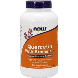 NOW FOODS Quercetin With Bromelain 240 vcaps.