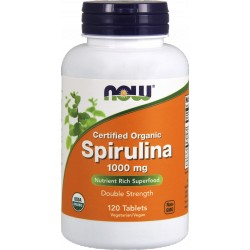 NOW FOODS Spirulina Organic 1000 mg 120 tabl.
