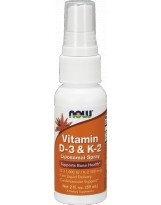NOW FOODS Witamina D3+K2 Spray 59 ml.