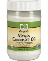 NOW FOODS Virgin Coconut Oil Organic 355 ml.