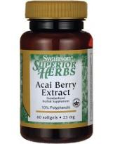 SWANSON Acai Berry Extract 25mg 60 kaps.