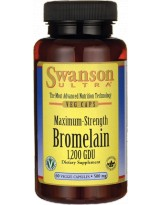 SWANSON Bromelina 500mg 60 veg caps.
