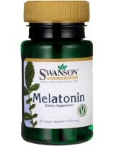 SWANSON Melatonina 500mcg 60 veg caps.