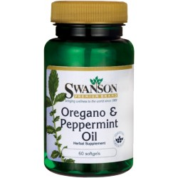 SWANSON Oregano & Peppermint Oil 60 kaps.
