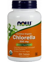 NOW FOODS Chlorella 500mg Organic 200 tabl.