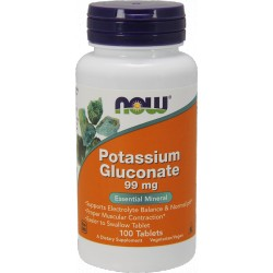 NOW FOODS Potassium Gluconate 100tabs