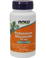 NOW FOODS Potassium Gluconate 100 tab.