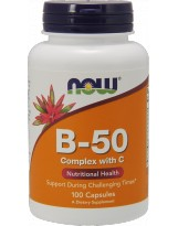 NOW FOODS B-50 Complex with C 100 kaps.
