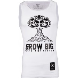TREC WEAR Top Tank 004 White Grow Big
