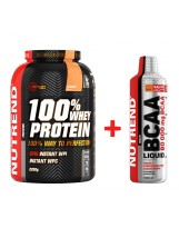 NUTREND 100% Whey Protein 2250 g + BCAA Super Strong Liquid 1000 ml