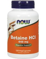 NOW FOODS Betaine HCL 648 mg 120 kaps.