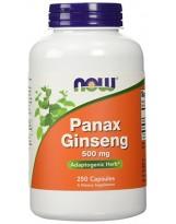NOW FOODS Panax Ginseng 500 mg 250 kaps.