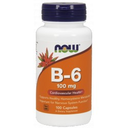 NOW FOODS B-6 100 mg 100 kaps.