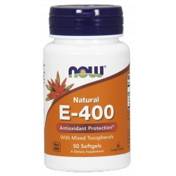 NOW FOODS Witamina E-400 Mix Tocopherol 50kaps