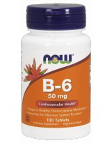 NOW FOODS B-6 50 mg 100 tabl.