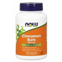 NOW FOODS Cinnamon Bark 600mg 120 kaps.