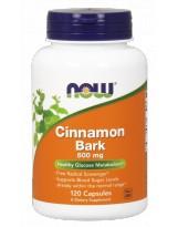 NOW FOODS Cinnamon Bark 600mg 120 kaps.