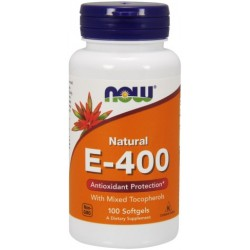 NOW FOODS Witamina E-400 Mix Tocopherol 100kaps