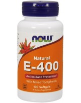 NOW FOODS Witamina E-400 Mix Tocopherol 100 kaps.